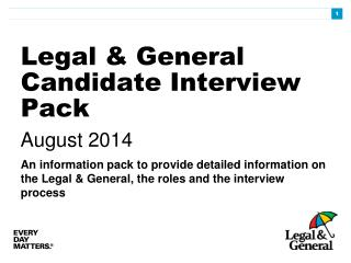 Legal & General Candidate Interview Pack