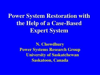Power System Restoration with the Help of a Case-Based Expert System