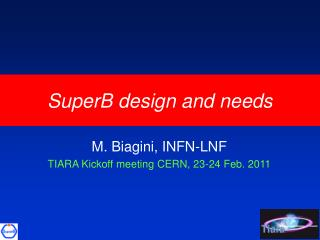 SuperB design and needs