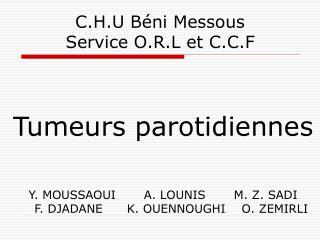 C.H.U Béni Messous Service O.R.L et C.C.F