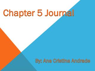Chapter 5 Journal