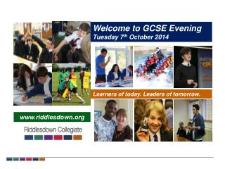 Welcome to GCSE Evening Tuesday 7 th October  2014