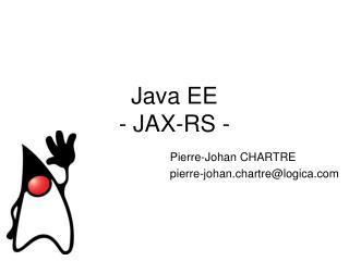 Java EE  - JAX-RS -