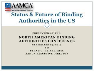 Status & Future of Binding Authorities in the US