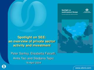 Spotlight on SEE:  an overview of private sector activity and investment