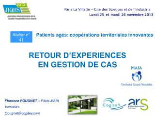 Patients agés: coopérations territoriales innovantes