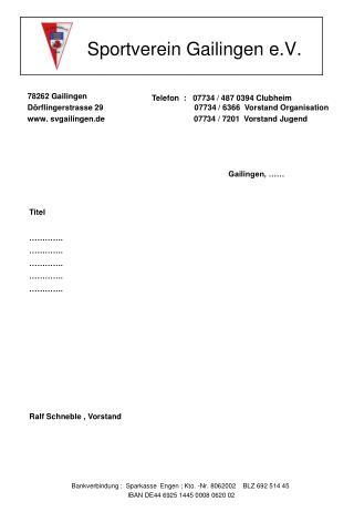 Sportverein Gailingen e.V.