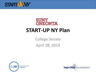 START-UP NY Plan