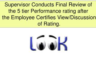 Supervisor Conducts Final Review of the 5 tier Performance rating after
