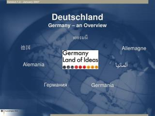 Deutschland Germany � an Overview