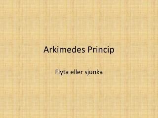 Arkimedes Princip