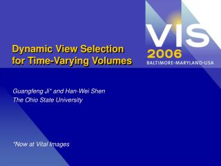 Dynamic View Selection for Time-Varying Volumes