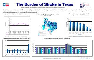 Prevalence of Stroke, Adults 18+— U.S & Texas, 1999- 2009