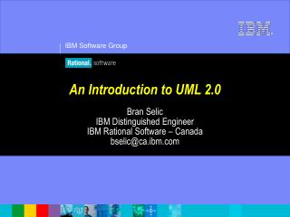 An Introduction to UML 2.0