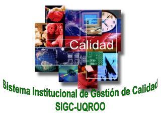 Sistema Institucional de Gestión de Calidad SIGC-UQROO