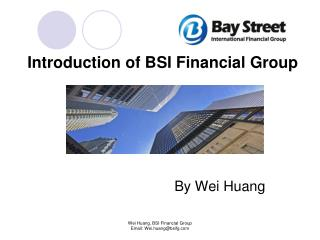 Introduction of BSI Financial Group                              By Wei Huang
