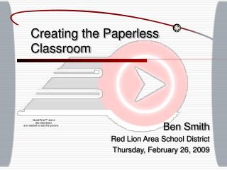 Creating the Paperless Classroom
