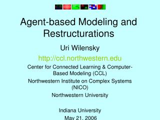 Agent-based Modeling and Restructurations