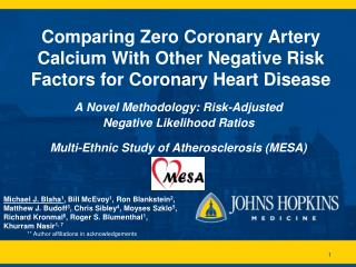 Comparing Zero Coronary Artery Calcium With Other Negative Risk Factors for Coronary Heart Disease