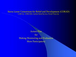 Action Plan  for Making Monitoring and Evaluation More Participatory