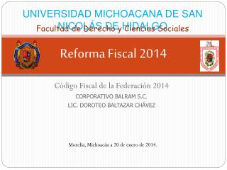 Reforma Fiscal 2014