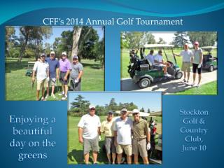CFF's 2014 Annual Golf Tournament