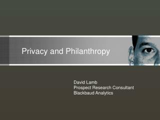 Privacy and Philanthropy