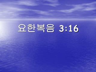 요한복음 3:16
