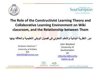 Ibraheem Alzahrani * University  of  Al-Baha KSA attfe2003@hotmail