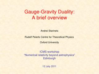 Gauge-Gravity Duality: A brief overview