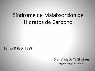 S�ndrome de Malabsorci�n de Hidratos de Carbono