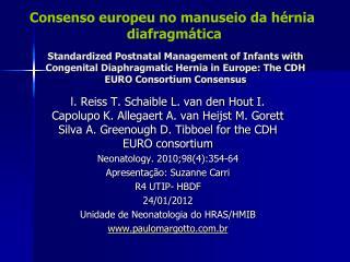 Consenso europeu no manuseio da hérnia  diafragmática