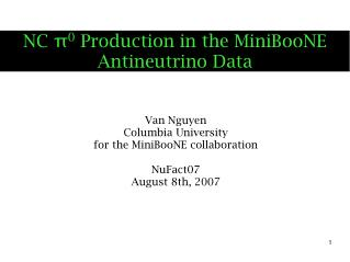 NC π 0  Production in the MiniBooNE Antineutrino Data