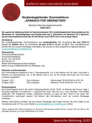 Spanische Abteilung , SUED