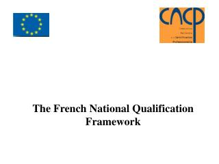 The French National Qualification Framework