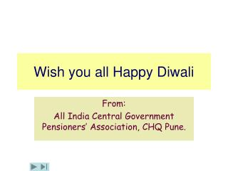 Wish you all Happy Diwali