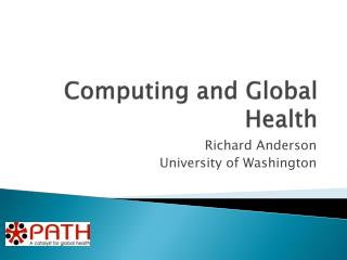 Computing and Global Health