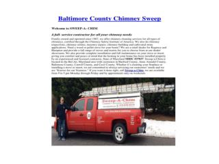 Baltimore County Chimney Sweep