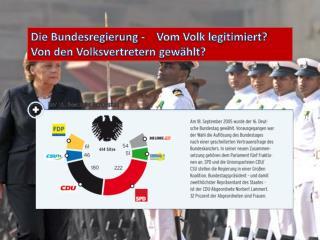 Die Bundesregierung -    Vom Volk legitimiert? Von den Volksvertretern gewählt?