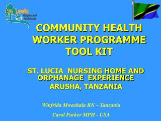 COMMUNITY HEALTH WORKER PROGRAMME TOOL KIT