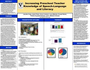 Increasing Preschool Teacher Knowledge of Speech-Language and Literacy