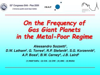 On the Frequency of   Gas Giant Planets  in the Metal-Poor Regime