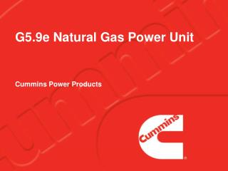 G5.9e Natural Gas Power Unit
