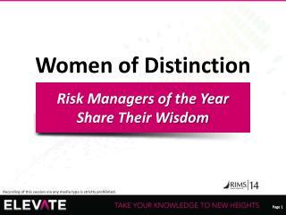 Women of Distinction
