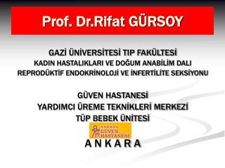 Prof. Dr.Rifat GÜRSOY