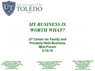 MY BUSINESS IS WORTH WHAT?