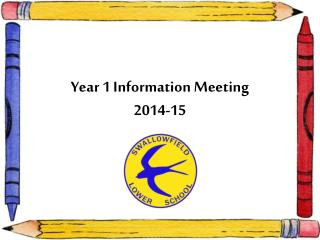 Year 1 Information Meeting 2014-15