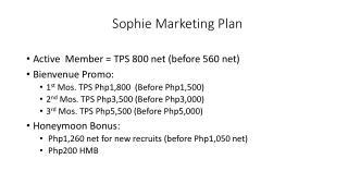 Sophie Marketing Plan