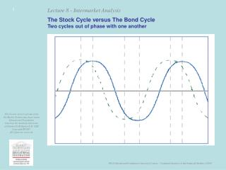 The Stock Cycle versus The Bond Cycle Two cycles out of phase with one another