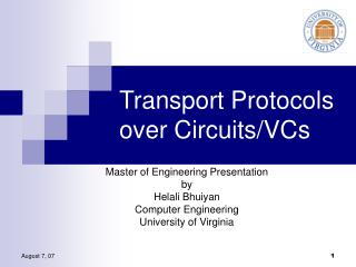 Transport Protocols over Circuits